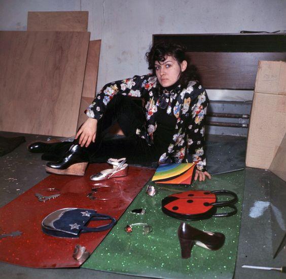 Paloma Picasso, dans son atelier 23 mars 1971