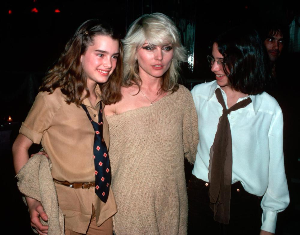 Brooke Shields with Debbie Harry and Friend